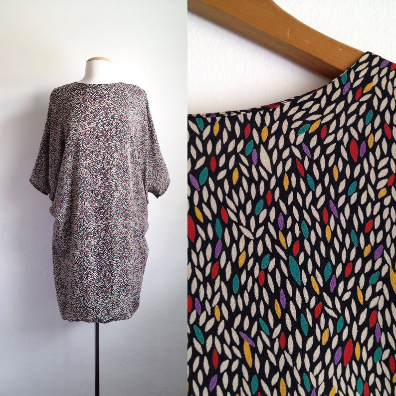 96f74730e1d865 80s tunic top vintage 80s tops batwing shirt oversized blouse