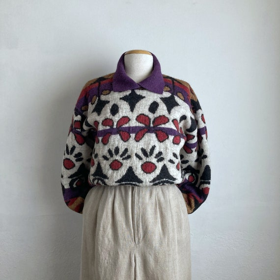 80s cardigan M medium vintage 80s sweater gem sequin sweater embroidered hearts hearts sweater 80s clothing 80s jumper metallic gold