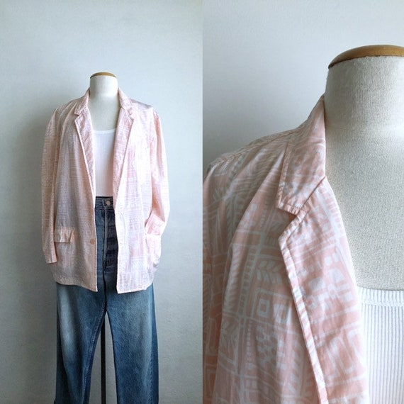 abstract 80s blazer womens oversized blazer vintag