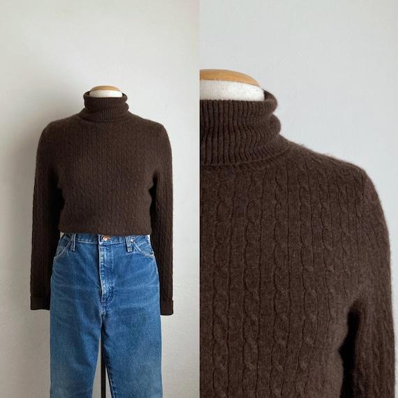 Dolce /& Gabbana women sweater turtleneck black jumper polo sz L vintage 90s 1990s pull pullover Merinos Wool