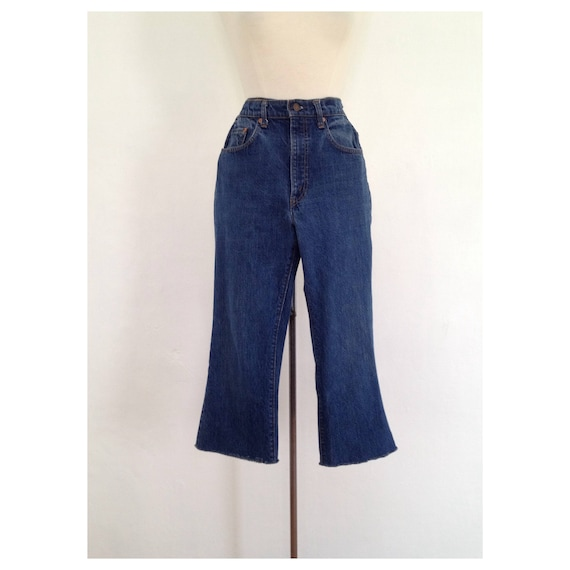 vintage 70s levis womens 70s jeans flare cropped j