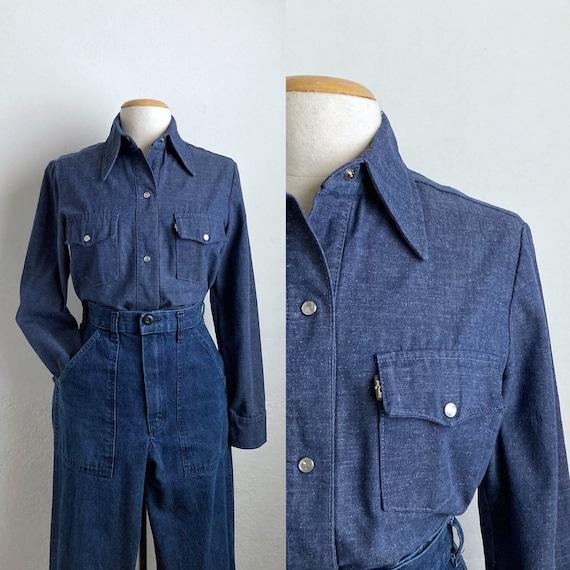 70s denim shirt womens 70s shirt vintage levis ove