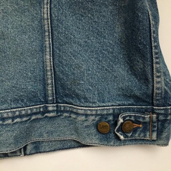 distressed trucker jacket 70s denim jacket vintag… - image 8