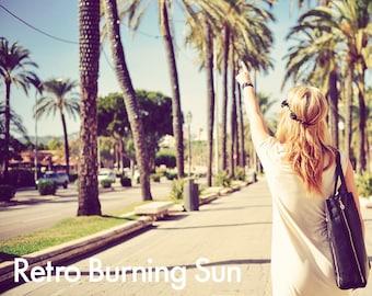 Retro Burning Sun - Photoshop Action INSTANT DOWNLOAD