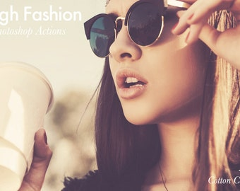 High Fashion - 4 Photoshop Actions INSTANT DOWNLOAD