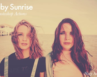 Ruby Sunrise - 3 Photoshop Actions INSTANT DOWNLOAD