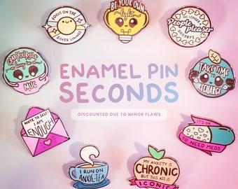 Pastel Take Up Space Enamel Pin Feminist Pin Body Positive Self Care Mental Health Planet Pin