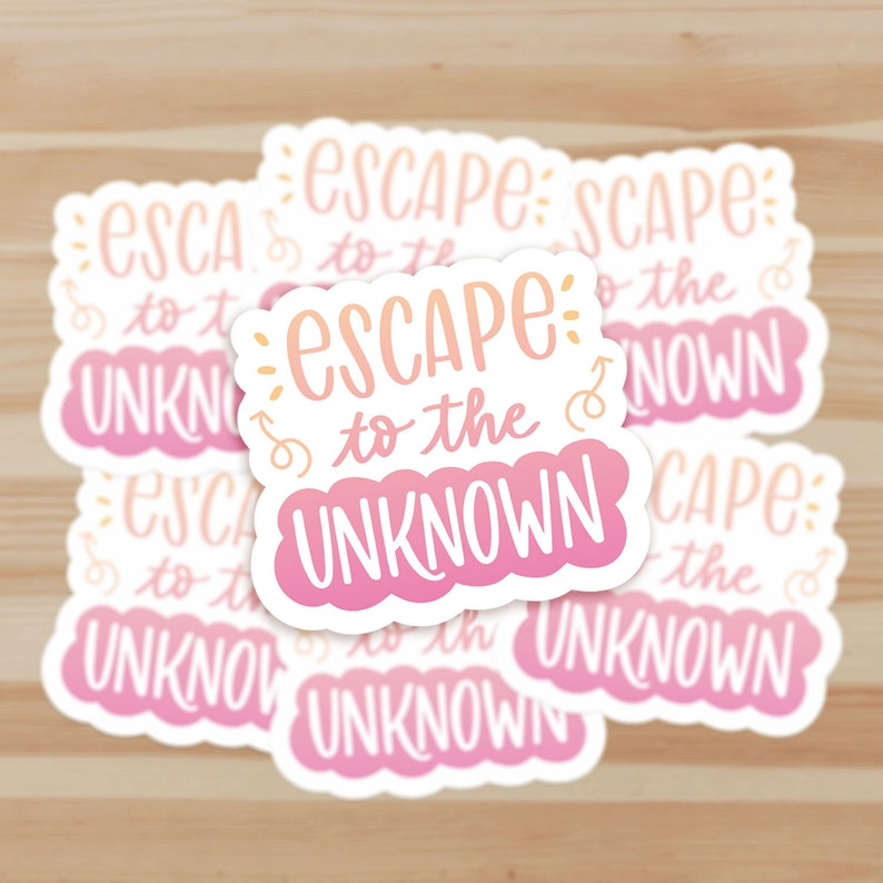 Escape to the Unknown Stickers Laptop Phone Planner Stickers Individual or Multipack