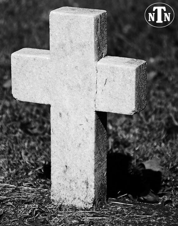 Items Similar To Cross Cemetery Headstone Black And
