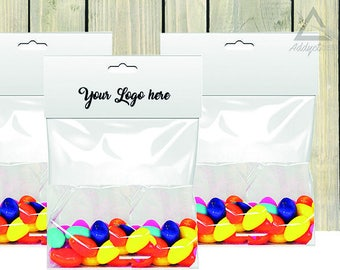 photo relating to Free Printable Bag Toppers Templates titled Choose Template and mockup sweet bag, Printable Bag Toppers
