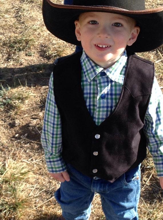 Vest, infant, baby, toddler western wedding cowboy costume western cowboy birthday cowgirl birthday