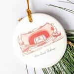 Kansas City Ornament - Arrowhead Stadium - KC Christmas Gift - Kansas City Art - Kansas City Christmas - KC Ornament - Holiday Decor