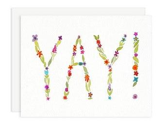 Yay Floral Celebration Card