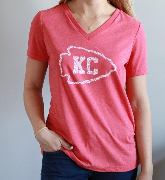 Kansas City Women s Tee Chiefs Football KC Football  d81621ab2