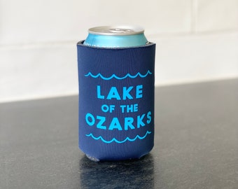 Lake of the Ozarks Drink Coolie - Lake of the Ozarks - Ozarks Beer Coozie - Ozarks Gift - Lake of the Ozark Wedding