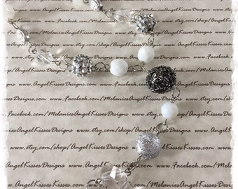 XL Beaded Necklace- Ice Storm