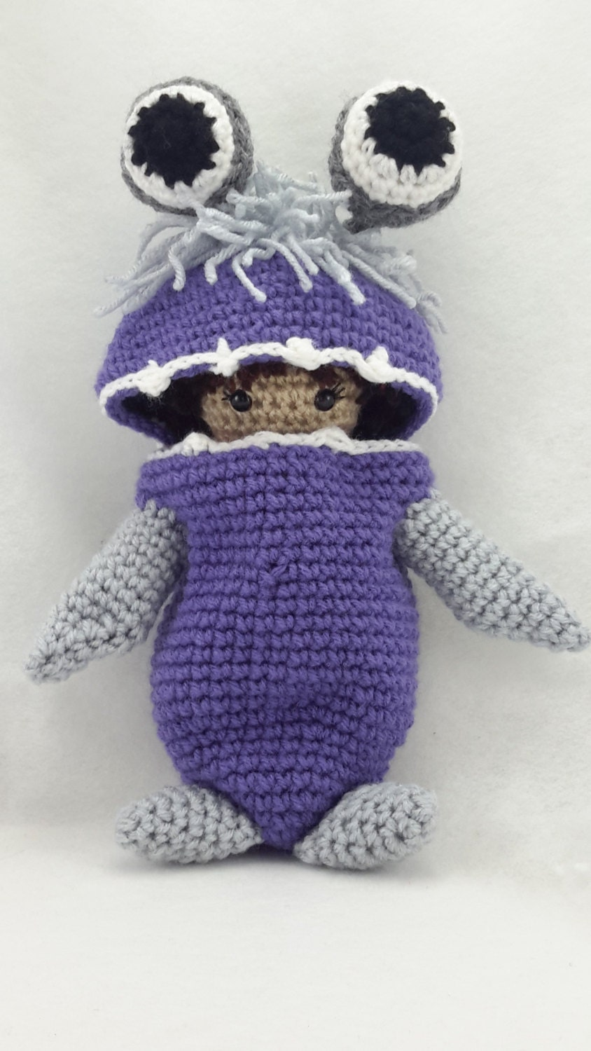 Crocheted Doll Inspired By Boo From Monsters Inc Boo Doll Etsy