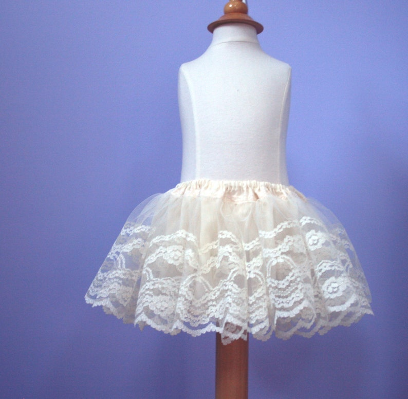 baptism...by 7 Pine Design photo prop Lace Tutu Baby Lace Skirt #311A for weddings