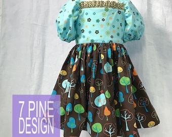 Nature Lover cotton dress #649 One-of-a-Kind size 5