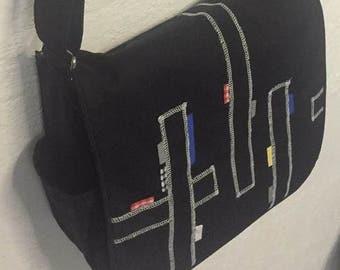 Black Tumble satchel bag