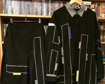 Culture Club 'I'll Tumble 4 Ya' replica Black shirt/coat and pants outfit.