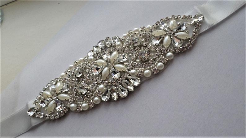 Woman Bridal Accessoires Pearls Crystals Belt Sashes Bridal Dress Bridal Gift Wedding Bridal Accessoires Bridal Belt Dress