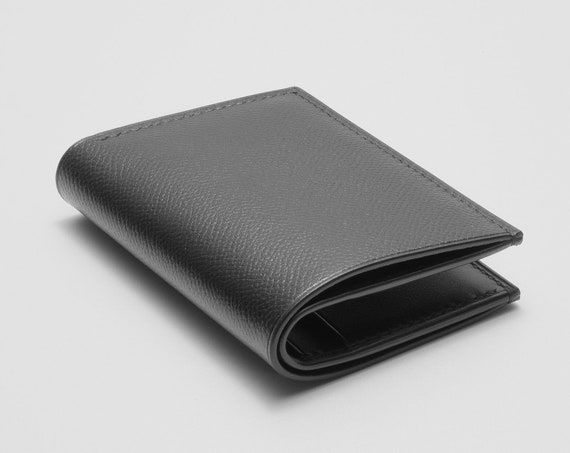 Hand-stitched Leather Compact Billfold Wallet
