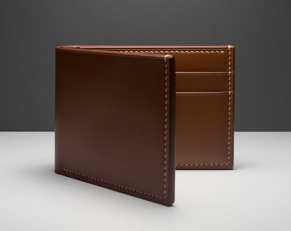 Hand-stitched Leather Classic Billfold Wallet