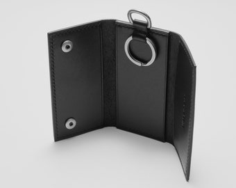 Hand-stitched Leather Key Case