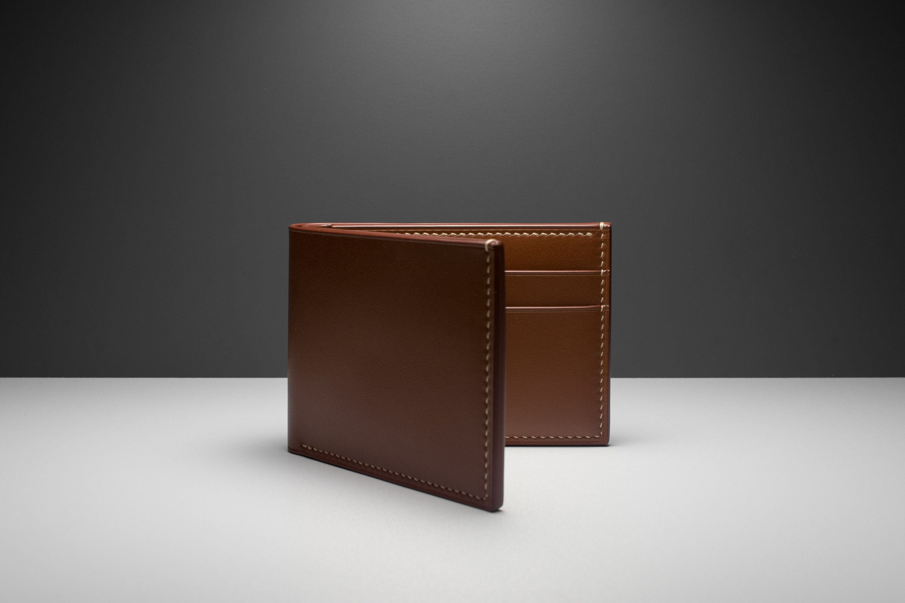 89c5d046657 Hand-stitched Leather Classic Billfold Wallet