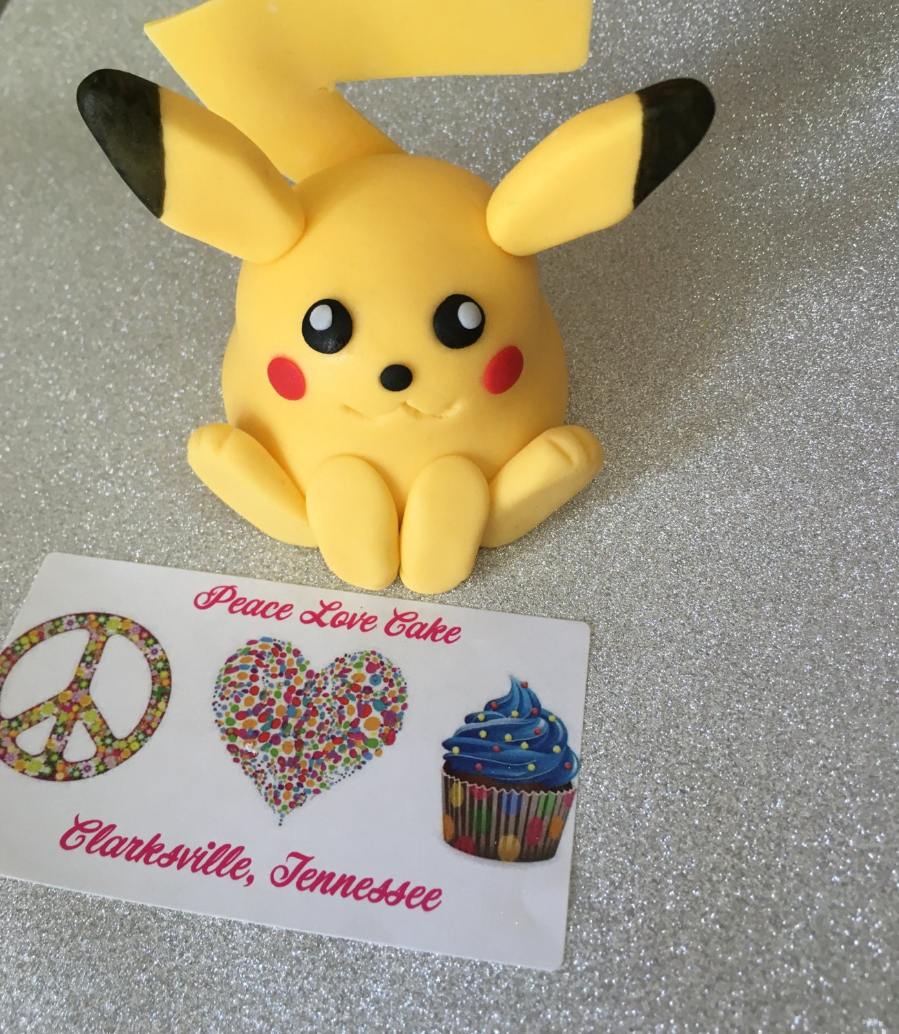 Fondant pikachu Cake Topper/Decoration | Etsy