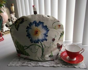 Botanical Print Tea Pot Cosy with Insulated Liner  Floral Tea Pot Cozy