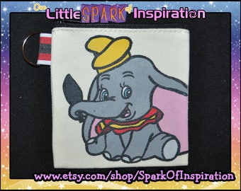 Cutie Dumbo the Flying Elephant Pin Trading Pouch Lanyard Souvenir Penny Coin Purse Commission