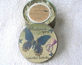 Lotion Gift Set, Body Butter with Vintage Style Tin. Vegan Body Butter Gift for Her, Christmas Gift Idea, Teacher Gift, Body Spa Gift Set
