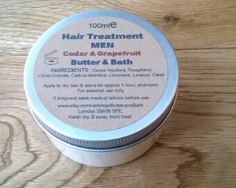Hair Treatment Men, All Natural Hair Conditioner, Men's Hair Product, Beard Treatment, Vegan Hair Care Cedar & Grapefruit Conditioning Cream