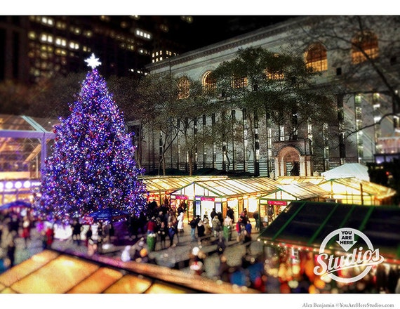 Bryant Park Christmas Market.Bryant Park Holiday Market Winter Village Christmas Tree New York City Nyc Free Shipping