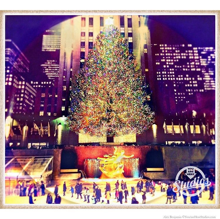Christmas Tree In Ny: Rockefeller Center Holiday Winter Christmas Tree New York