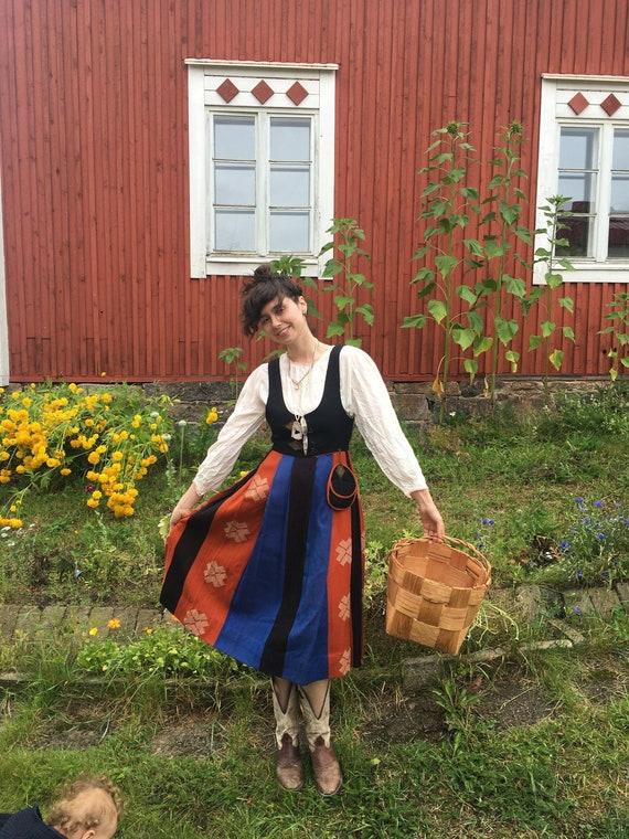 Gorgeous Scandinavian handmade Finnish folk dress