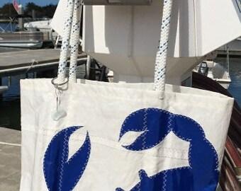 67f74903efc Large Sail Bag with stitched on Crab emblem - Custom Made