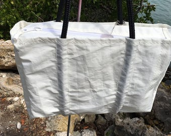 XLG Zippered Top recycled sail cloth bag