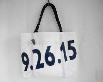 Made to order  Custom  XLG  Recycled sail cloth sea bag, tote, old sail bag