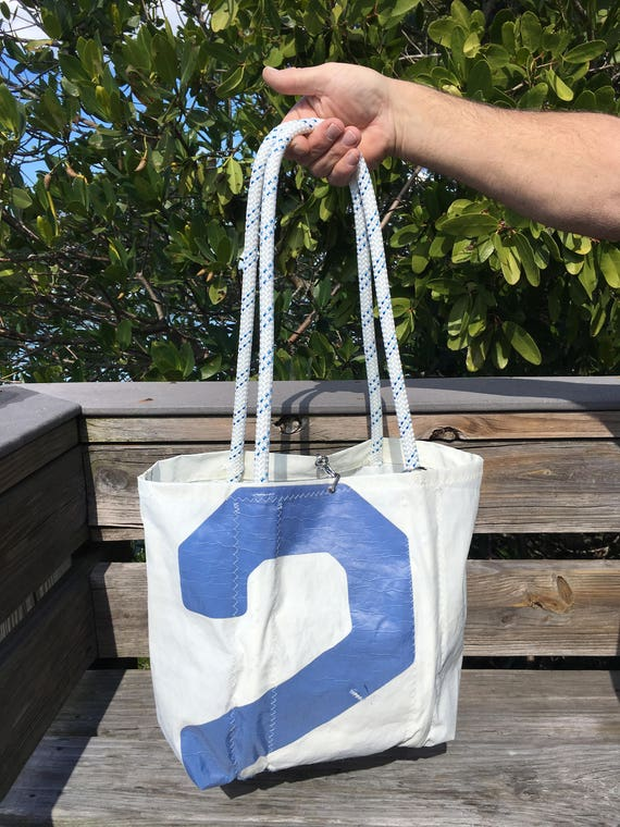 c9dc05483e22 PRINDLE Sail Number 2 Large recycled vintage sail cloth tote