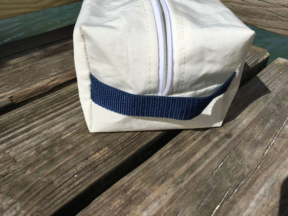 Recycled Sail Cloth Toiletry Bag Dopp Bag or Cosmetic Bag by  51882b59d2f1b