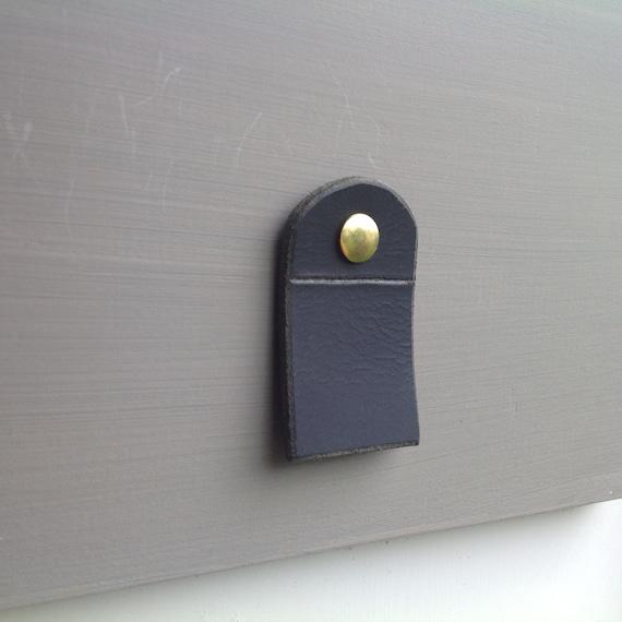 Matte Black, leather pull tab
