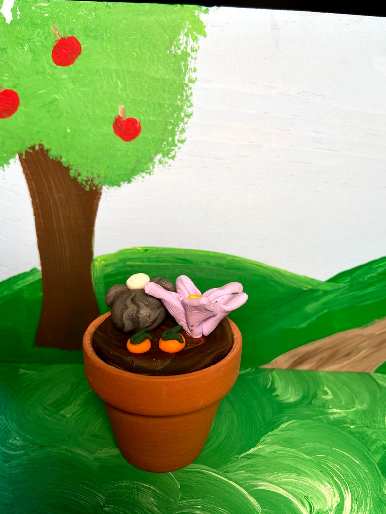 Clay Figurine Darryl the digging bunny