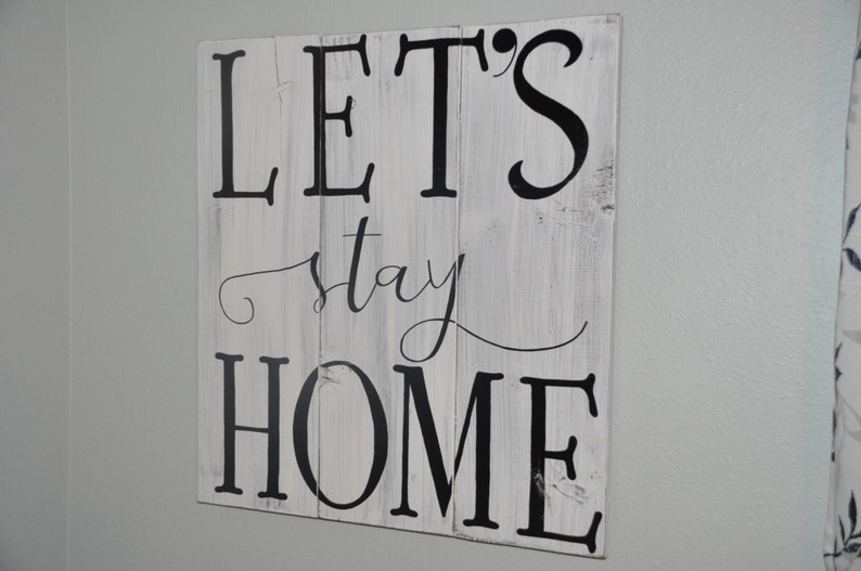 1a9e9791e198 Large Shabby Chic Old Barn Look Sign Lets Stay