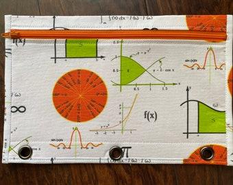 calculus concepts 3-ring binder pencil case