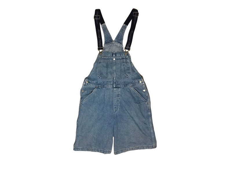 1789b54adbf3 90s Tommy Hilfiger Denim Short Overalls    Size XL    Blue