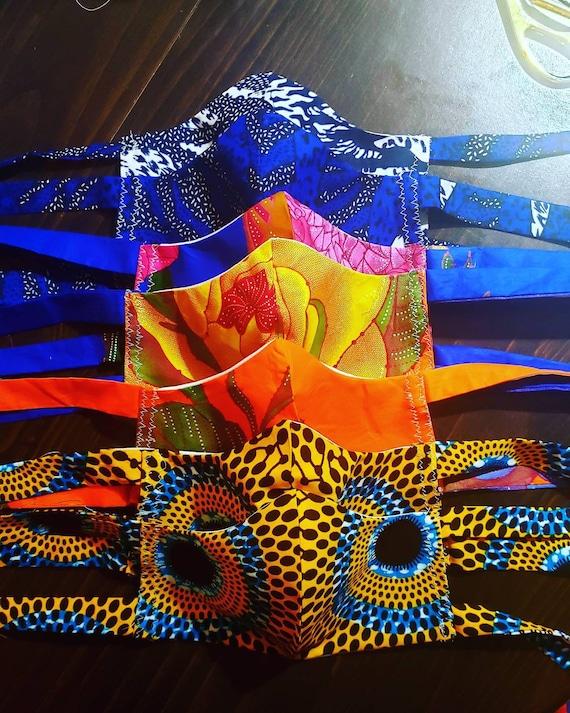 Handmade Face mask   African Print Face mask