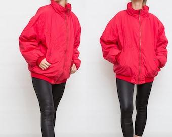 Vintage Red Parka, Rosmarin Sport Jacket, Large Size Parka, Winter Warm Parka, Red Ski Jacket, Warm Skiing Parka, Puffed Red Parka